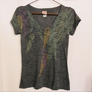 Curious Gypsy Burn-out T-shirt Multicolor Ferns S